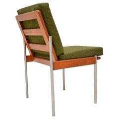 1970s Vintage Teak & Aluminum Lounge / Desk Chair