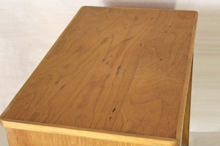 1970s Vintage Wood Desk Table For Sale 7