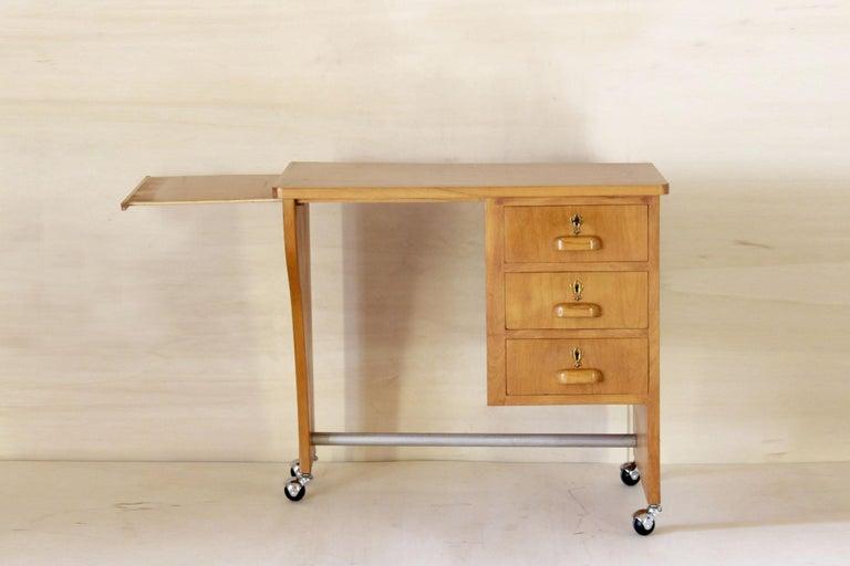 Mid-Century Modern 1970s Vintage Wood Desk Table For Sale