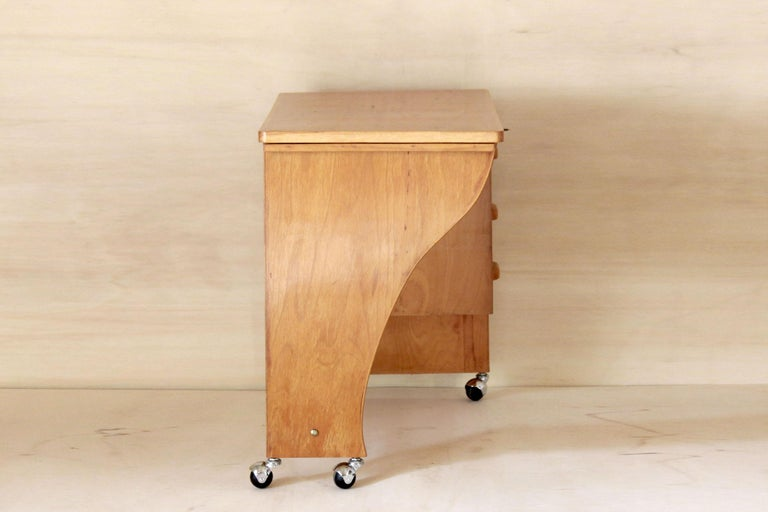 Italian 1970s Vintage Wood Desk Table For Sale
