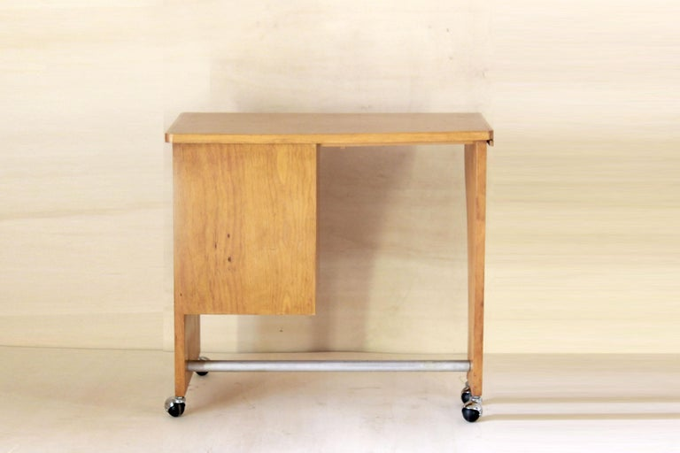 Late 20th Century 1970s Vintage Wood Desk Table For Sale