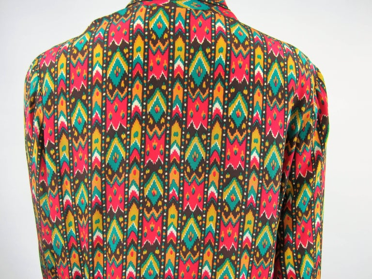 1970s Vintage Yves Saint Laurent Silk  Blouse Collection 1976 YSL  For Sale 1