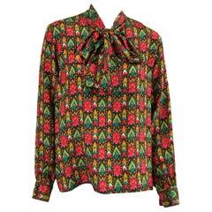 1970s Vintage Yves Saint Laurent Silk  Blouse Collection 1976 YSL