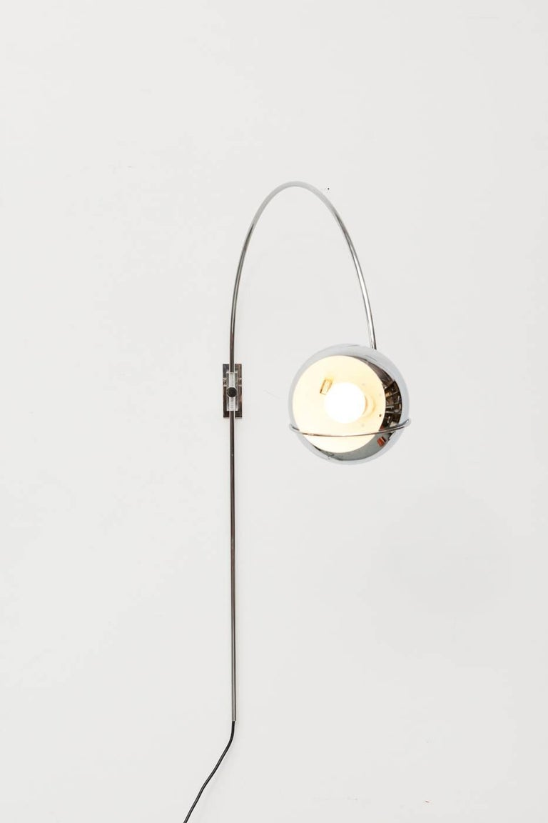 Mid-Century Modern 1970s Wall Mount Arc Lamp For Sale
