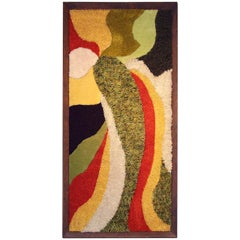1970s Wall Mounted Framed Rug