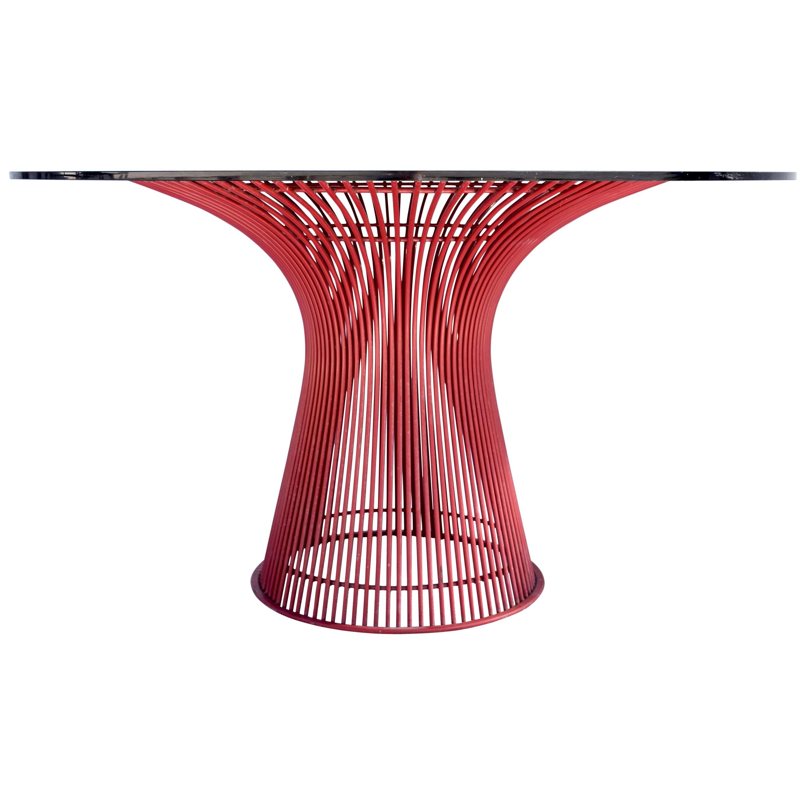 Rare 1970s Warren Platner Wire Dining Table by Knoll