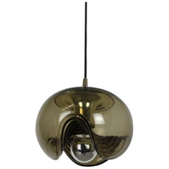 1970s Wave Hanging Light by Koch and Lowy for Peill and Putzler, Germany