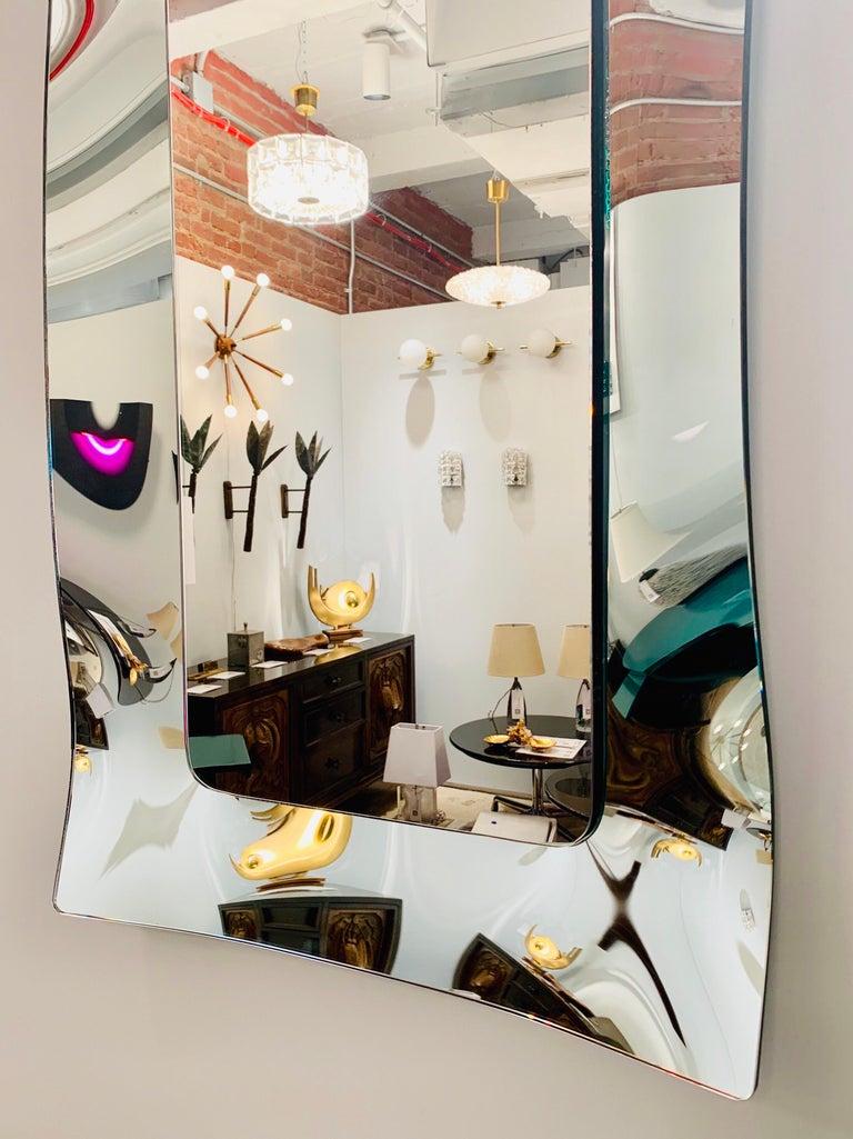 1970s Wavy Murano Glass Mirror For Sale 4