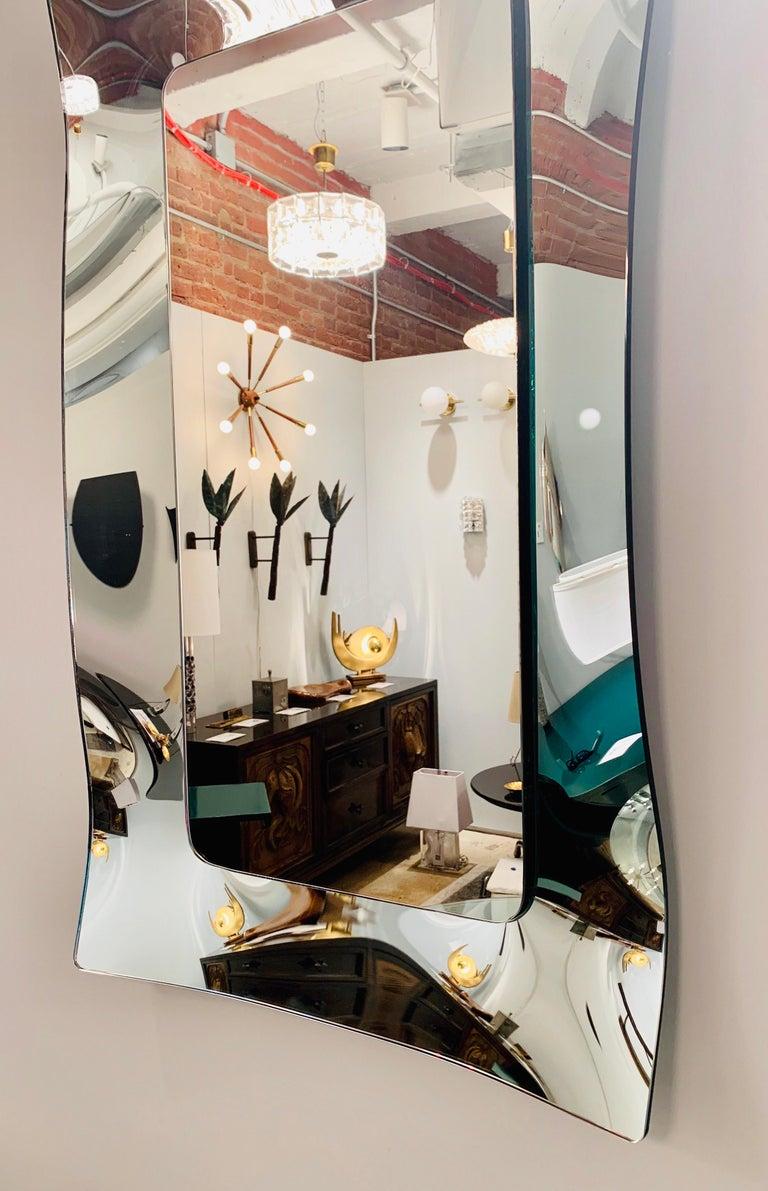 1970s Wavy Murano Glass Mirror For Sale 5