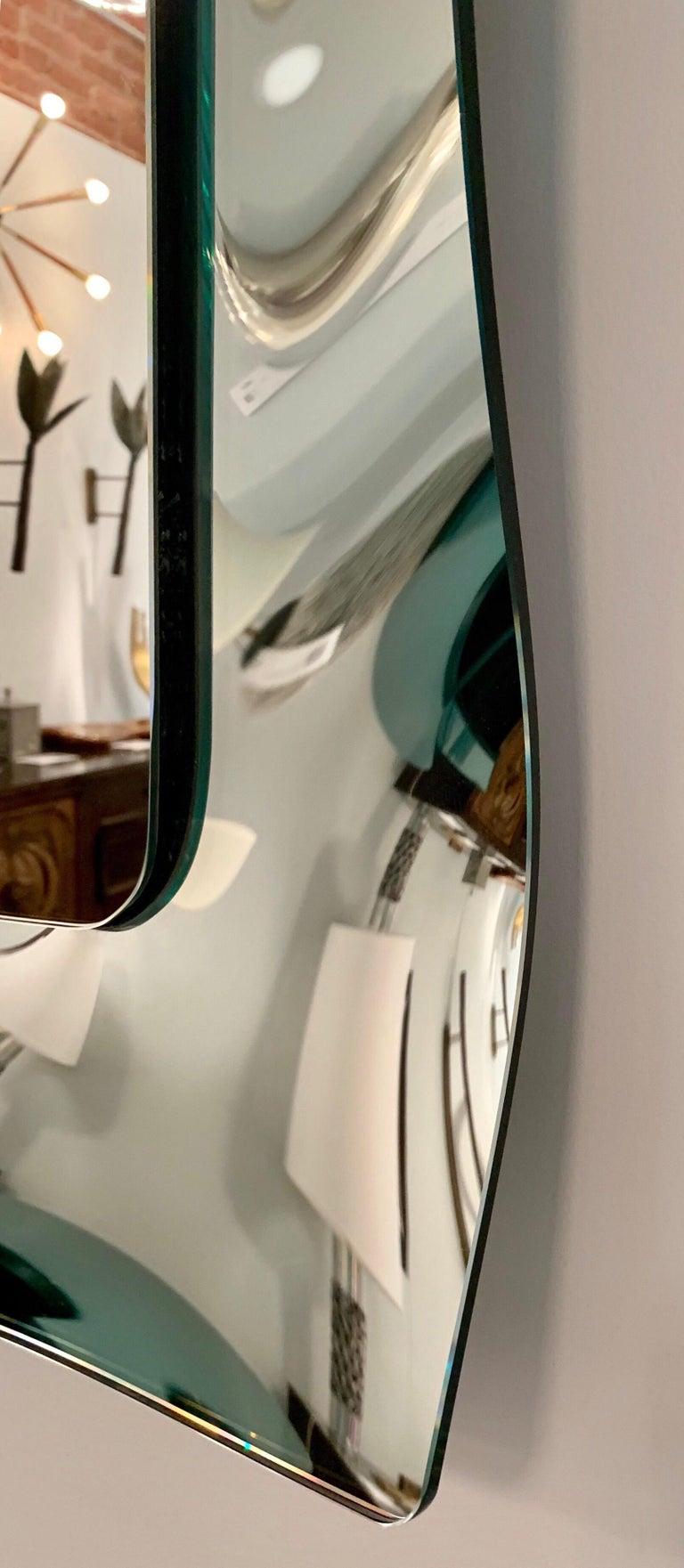 1970s Wavy Murano Glass Mirror For Sale 6