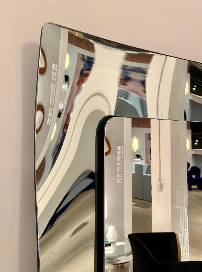 1970s Wavy Murano Glass Mirror For Sale 7