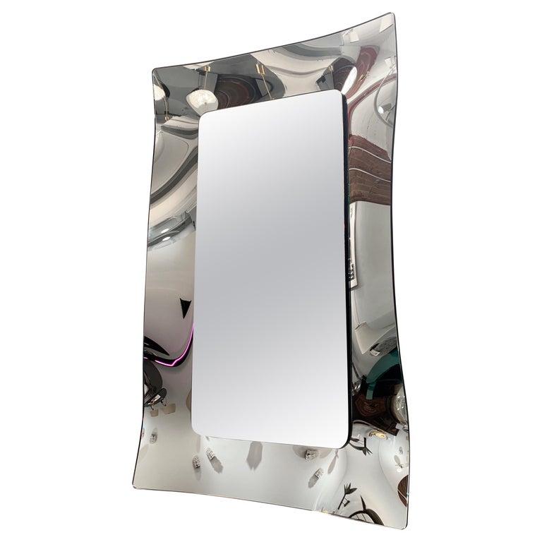 1970s Wavy Murano Glass Mirror For Sale