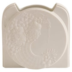 1970s West German Kaiser White Bisque Porcelain Fantasy Vase by Manfred Frey
