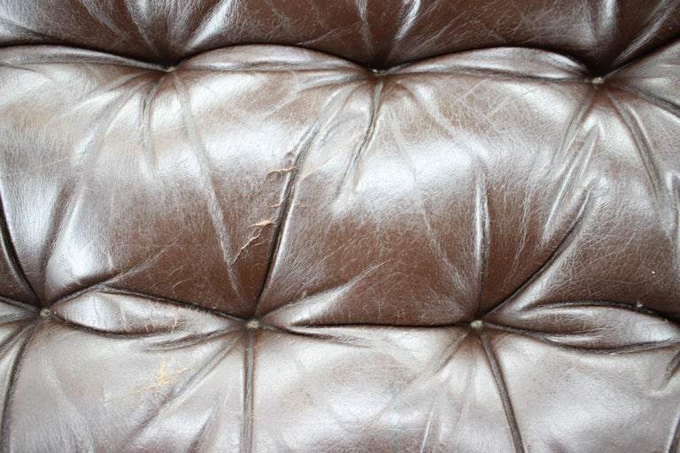 Late 20th Century 1970s Westnofa Bentwood Leather Armchair, Norway For Sale