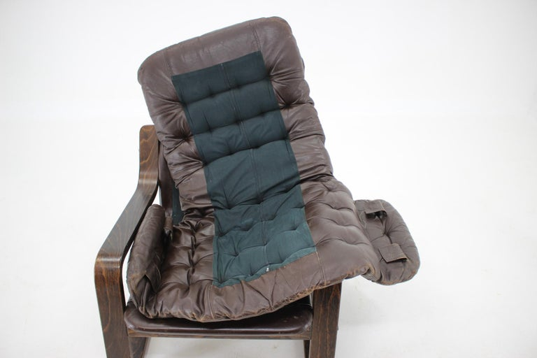 1970s Westnofa Bentwood Leather Armchair, Norway For Sale 2