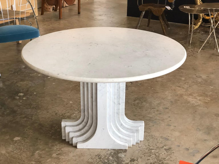1970s White Marble Samo Table by Carlo Scapara For Sale 1