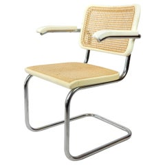 1970s White Mod. S64 Armchair by Thonet, Designed by Marcel Breuer
