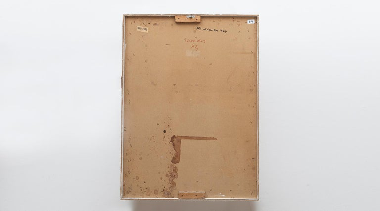 German 1970s White Wall Object by Artist Ferdinand Spindel 'd' For Sale