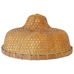 1970s Wicker Cane Hat