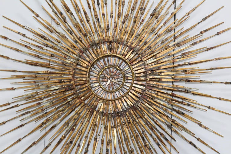 1970s William Bowie Sunburst Wall Sculpture In Good Condition For Sale In New York City, NY