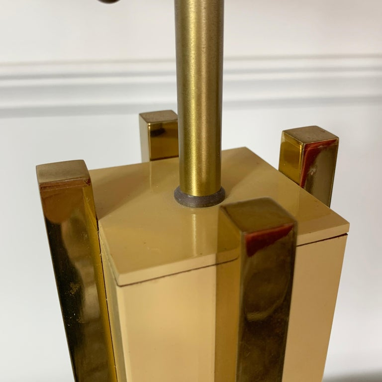 1970s Willy Rizzo Attributed Table Lamp In Good Condition For Sale In Hastings, GB