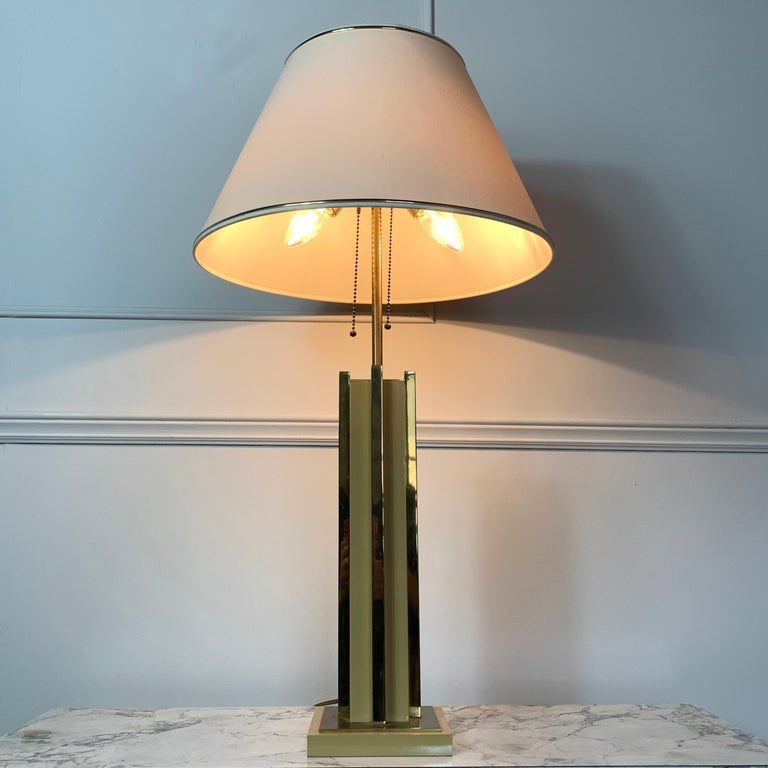 20th Century 1970s Willy Rizzo Attributed Table Lamp For Sale