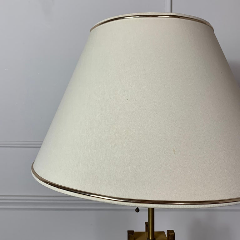 Brass 1970s Willy Rizzo Attributed Table Lamp For Sale