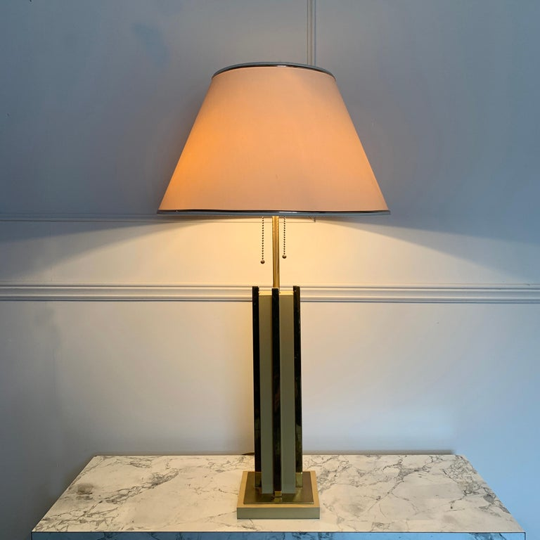 1970s Willy Rizzo Attributed Table Lamp For Sale 1