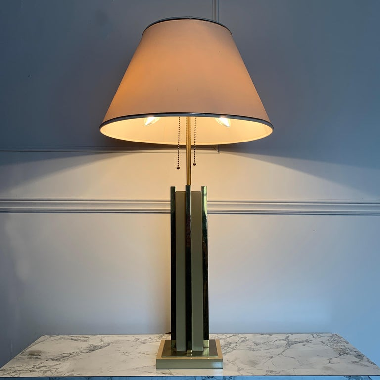 1970s Willy Rizzo Attributed Table Lamp For Sale 2