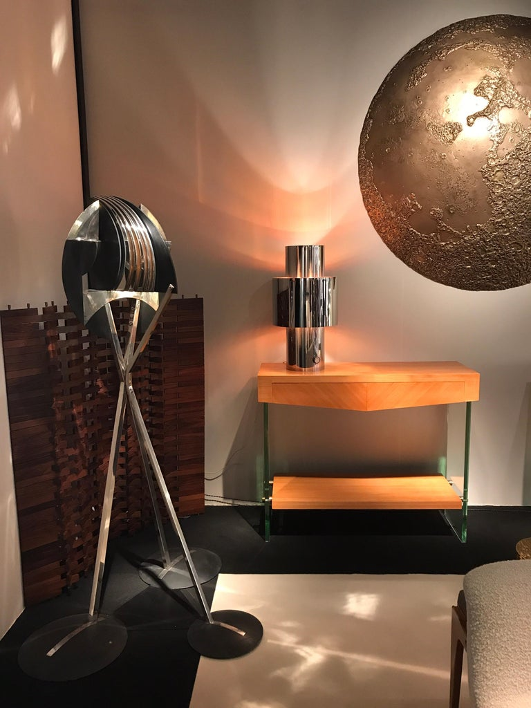 Late 20th Century 1970s Willy Rizzo Chrome Lamp