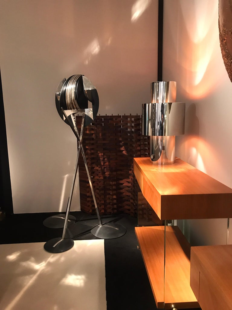 1970s Willy Rizzo Chrome Lamp 2