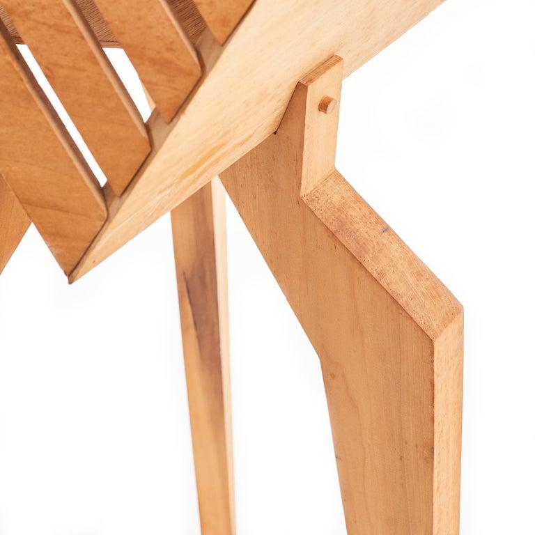Mid-Century Modern 1970s Wood Studio Craft Tripod Floor Lamp For Sale