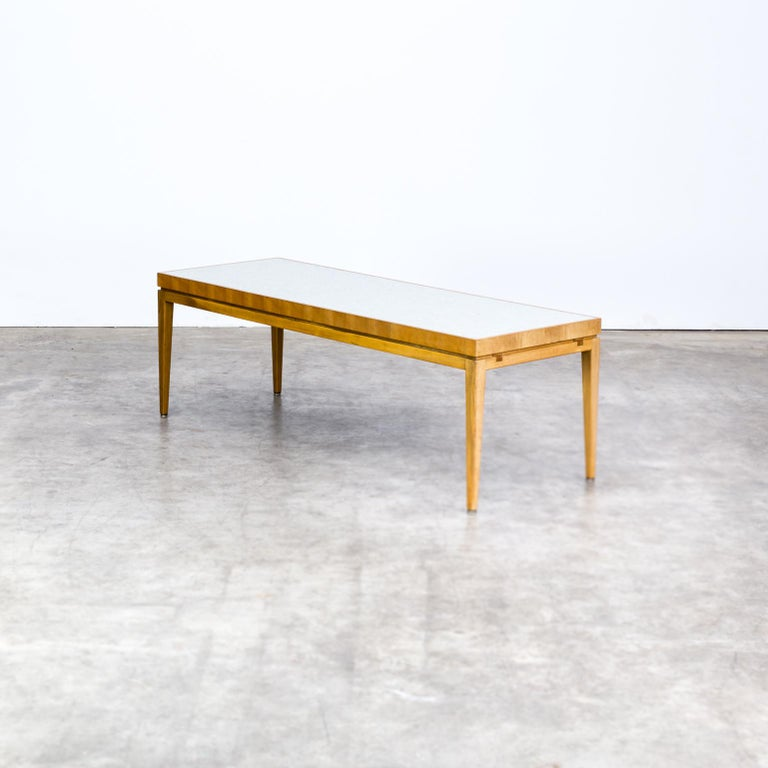 Coffee Table Extendable Legs: 1970s Wooden Extendable Coffee Table, Ceramic Tiles For