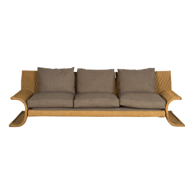 1970s Woven Cord Sofa by Mario Cecchi