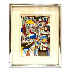 """1970s """"Yearn for Peace"""" Lithograph by, Yona Lotan Signed Artist Proof"""