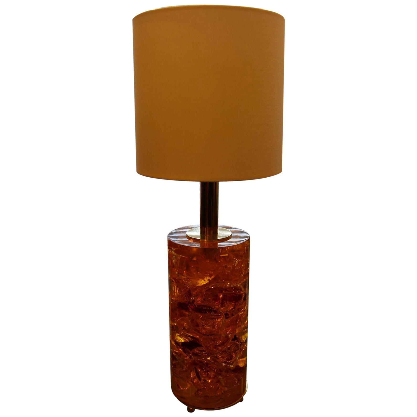 Fractal Resin Table Lamp,Marie-Claude de Fouquières,Pierre Giraudon Style