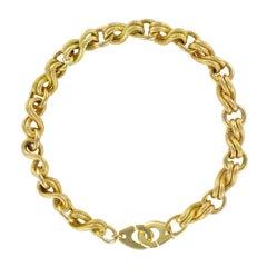 1970s Yellow Gold Handcuffs Link Bracelet