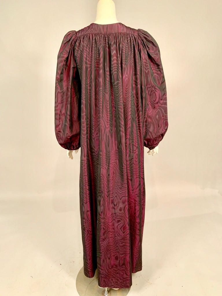1970's Yves Saint Laurent Aubergine and Black Evening Dress or Caftan For Sale 5