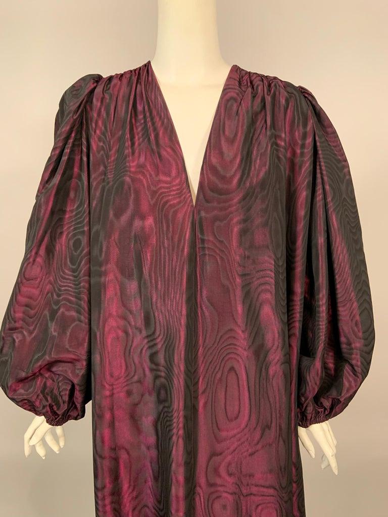 1970's Yves Saint Laurent Aubergine and Black Evening Dress or Caftan For Sale 2