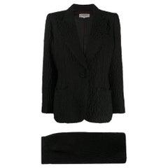 1970s Yves Saint Laurent Black Suit