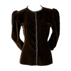 1970's Yves Saint Laurent brown velvet jacket