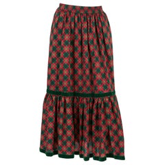 1970s Yves Saint Laurent Russian Collection Wool Skirt