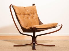 1970s, Camel Leather  Lounge - Armchair by Sigurd Ressell