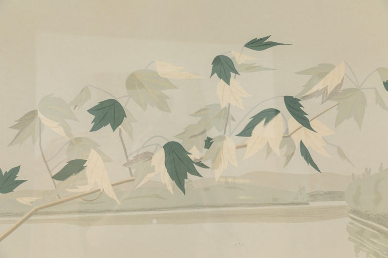 1971, seven color lithograph on Arches paper, Late July 2, by important American artist, Alex Katz (b. 1929). Signed and numbered, 30 /120, lower left. Since 1951 Alex Katz's work has been the subject of more than 200 solo exhibitions and nearly 500