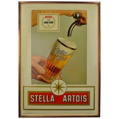 1971 Belgian Beer Sign for Stella Artois