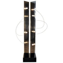 1971 Floor Lamp Gruppo A.R.D.I.T.I. Chromed Steel, Magnets, Sormani Nucleo Italy