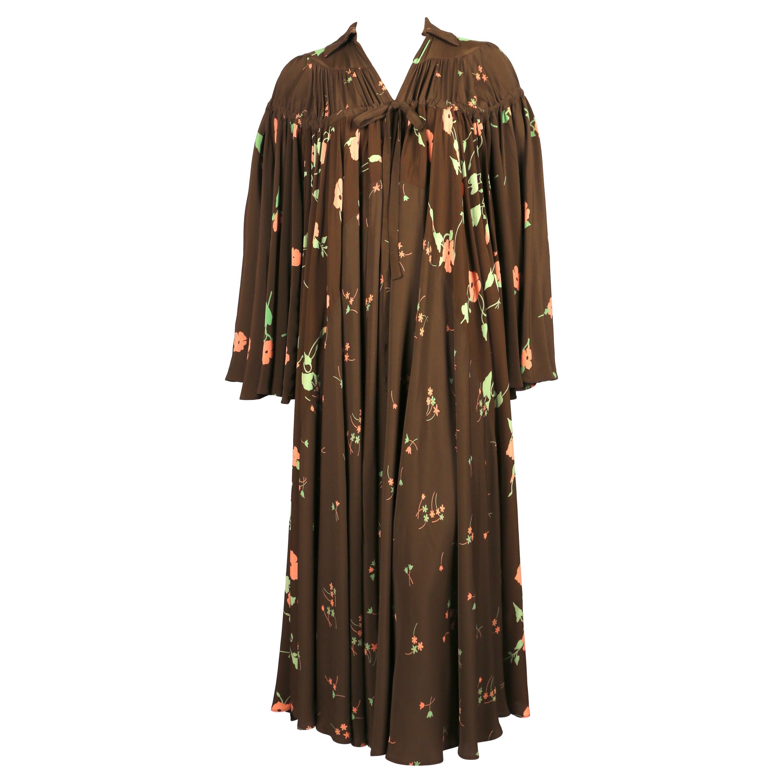 1971 OSSIE CLARK for QUORUM dress with 'Busy Lizzie' print by CELIA BIRTWELL