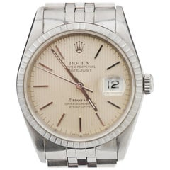 1971 Rolex Tiffany & Co. Datejust Stainless 16220 Tapestry Dial