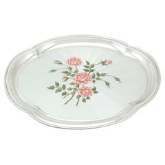 1971 Sterling Silver and Enamel Dressing Table Tray