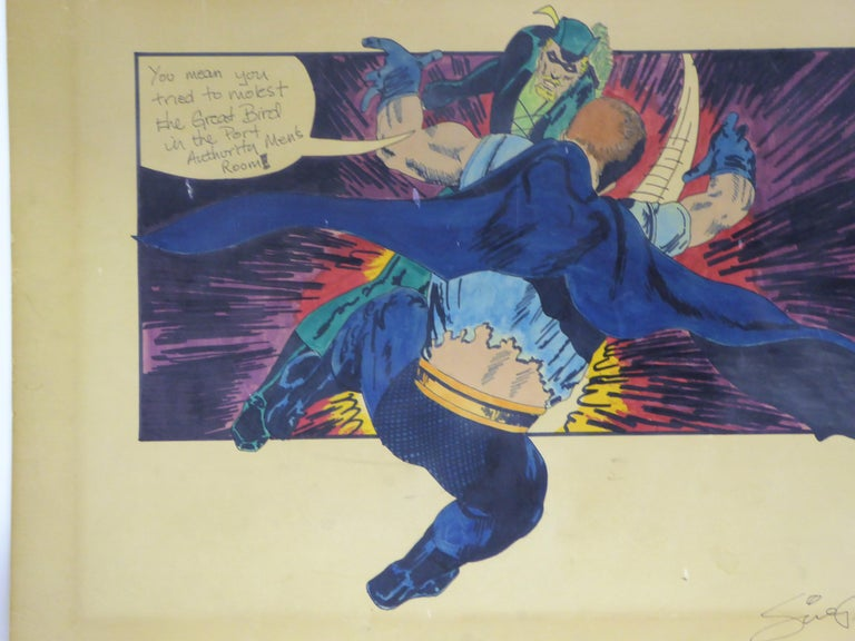 1971 the Green Lantern DC Comics Superhero Large Painting For Sale 5